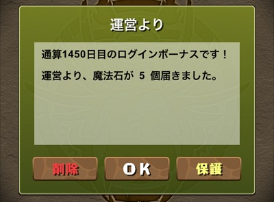 1450日ログイン